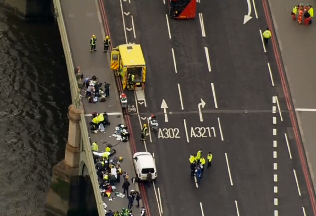 Westminster Bridge was the scene of a horrific terror attack in London today.
