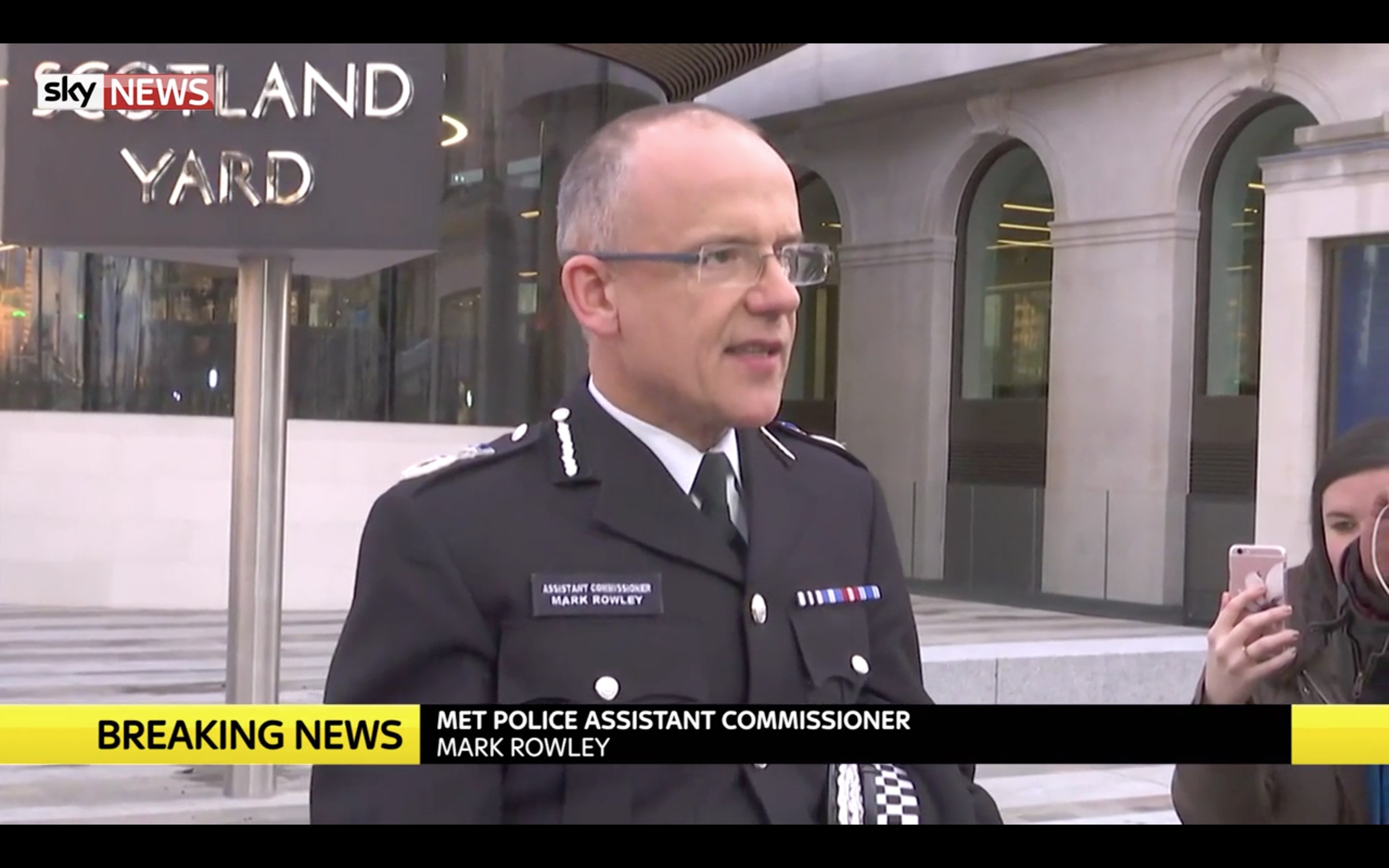 Metropolitan Police Assistant Commissioner Mark Rowley at press conference confirming the loss of one police officer.