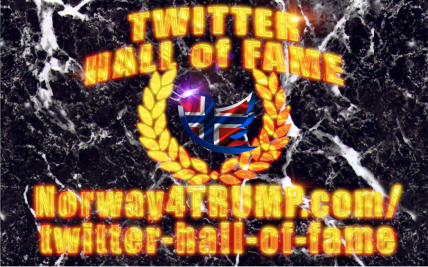 Twitter Hall of Fame 3D Gold
